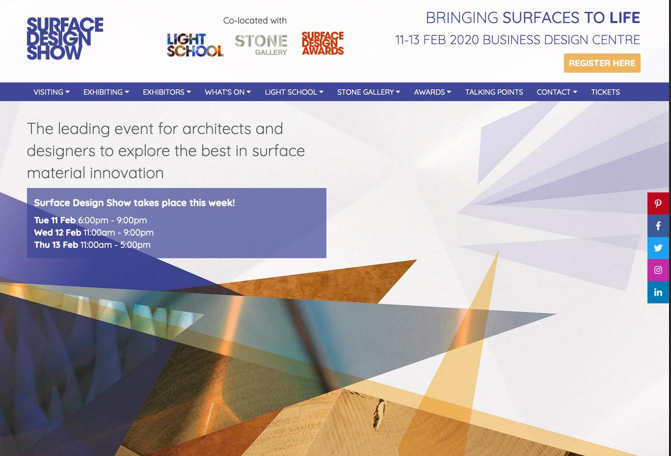 milleforma al London Surface Design Show