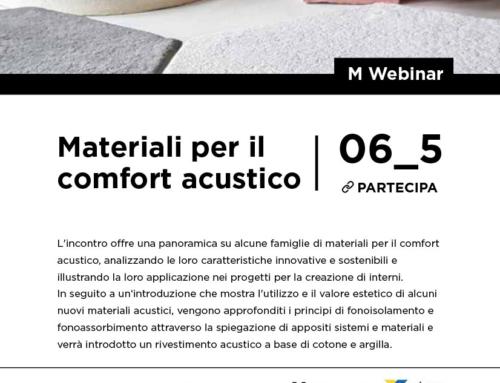"""Webinar """"Materiali per il comfort acustico"""""""